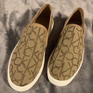 Calvin Klein slip on sneakers NWOT.